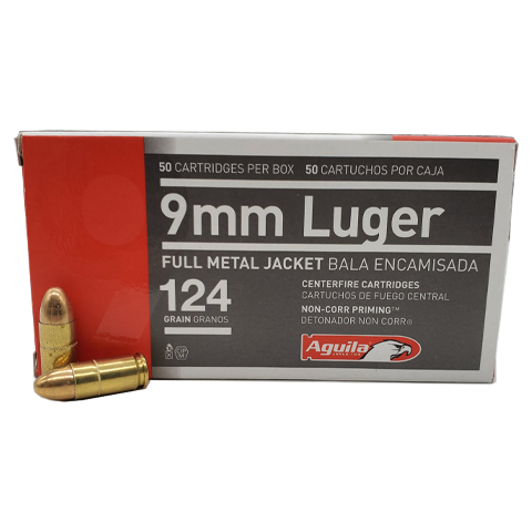 9mm - Aguila 124 Grain Full Metal Jacket