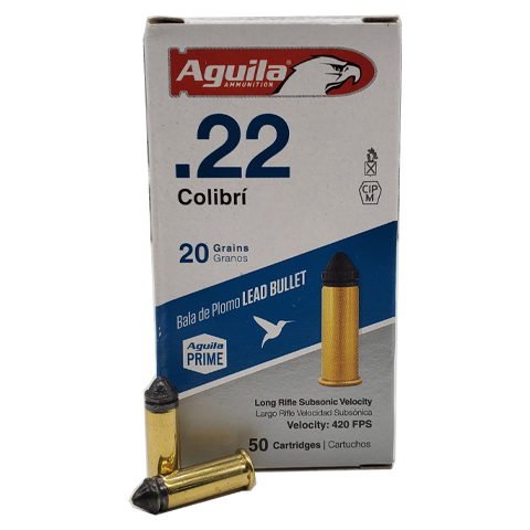 22 Long Rifle - Aguila Colibri 20 Grain Subsonic
