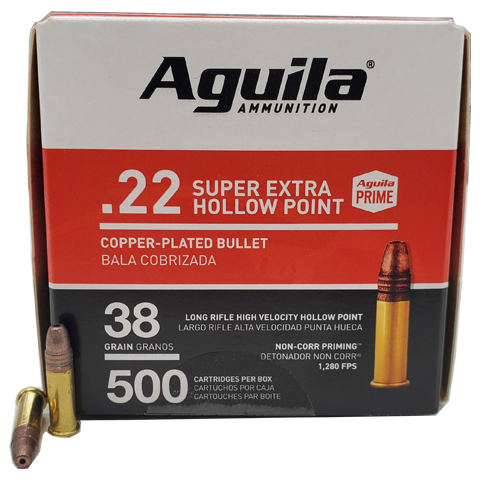 22 Long Rifle - Aguila Super Extra 38 Grain CPHP