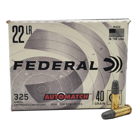 22 Long Rifle - Federal Automatch 40 grain LRN