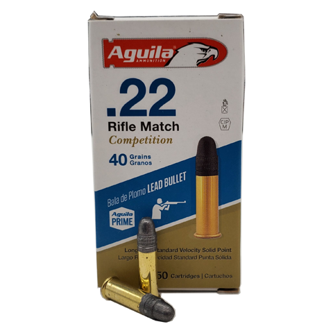 22 Long Rifle - Aguila Rilfe Match 40 Grain LRN