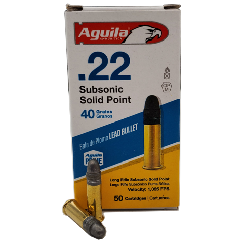 22 Long Rifle - Aguila 38 Grain Subsonic Solid Point