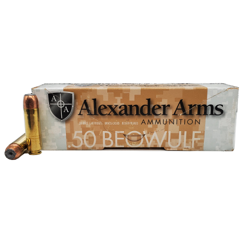 50 Beowulf - Alexander Arms 300 Grain Gold Dot JHP