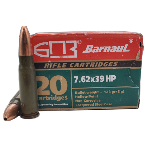 7.62x39 - Barnaul 123 Grain Hollow Point