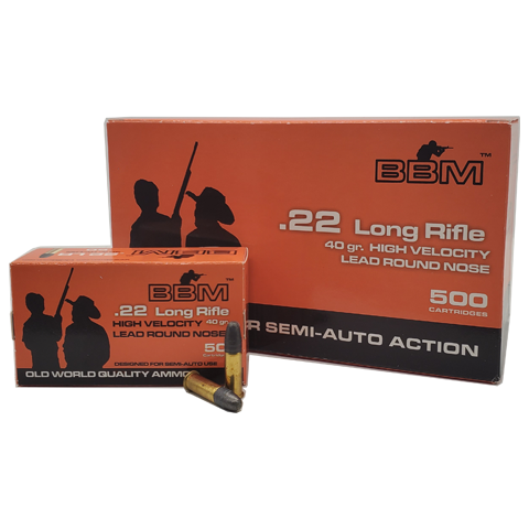 22 Long Rifle - BBM 40 Grain HV Lead Round Nose