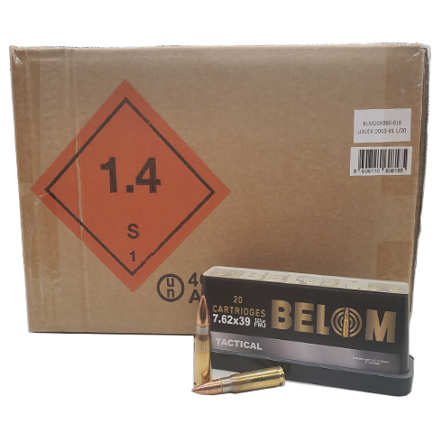 7.62x39 - Belom Tactical 123 Grain Full Metal Jacket Bulk