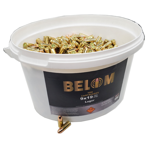 9mm - BELOM 124 Grain Full Metal Jacket Bucket