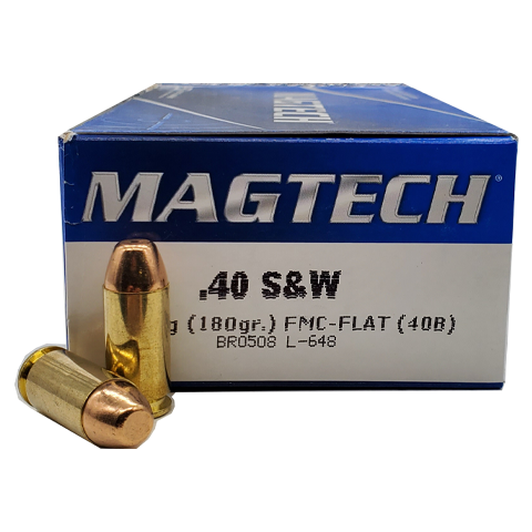 40 S&W - Magtech 180 Grain Full Metallic Case Flat Point