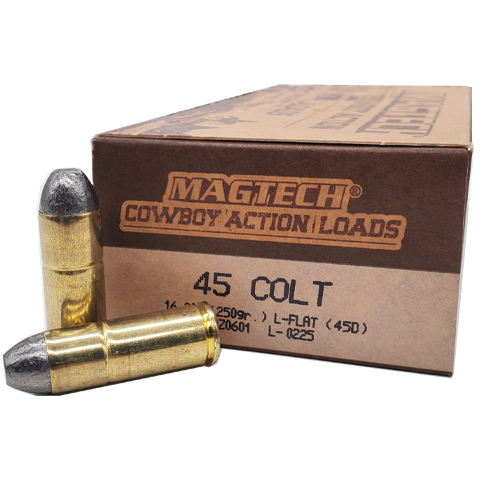 45 Colt - Magtech Cowboy Action 250 Grain Lead Flat Nose