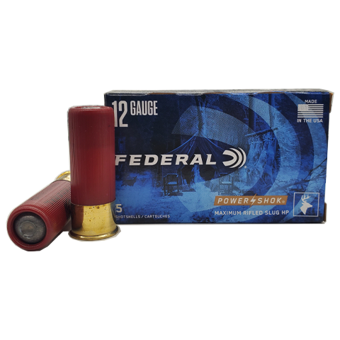 "12 Gauge - Federal 2-3/4"" Maximum 1oz HP Rifled Slug"