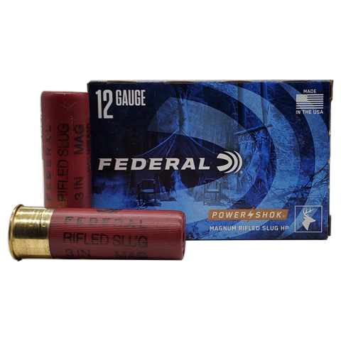"12 Gauge - Federal Power-Shok 3"" Magnum HP Rifled Slug"