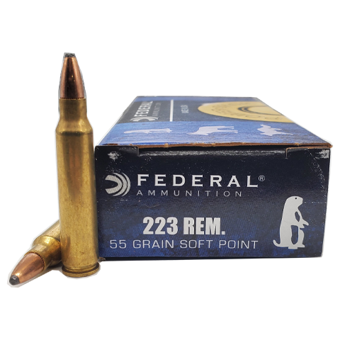 223 Rem - Federal Power-Shok 55 Grain Soft Point