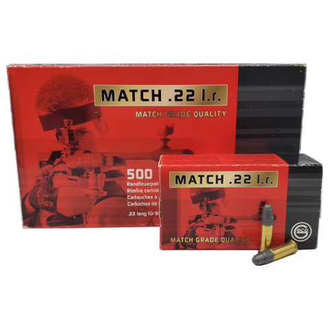 22 Long Rifle - Geco Match 22 40 Grain Lead Round Nose