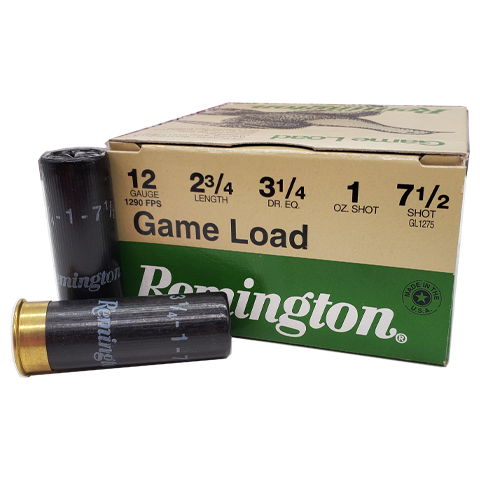 "12 Gauge - Remington 2-3/4"" Game Load 7 1/2 Shot"