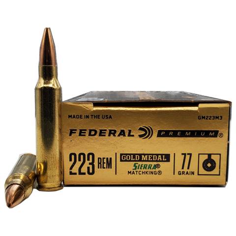 223 Rem - Federal Gold Medal 77 Grain Sierra Matchking HP