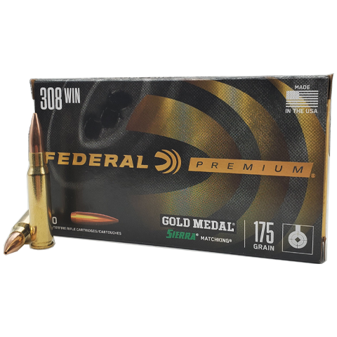 308 Win - Federal Gold Medal Match 175 Grain BTHP