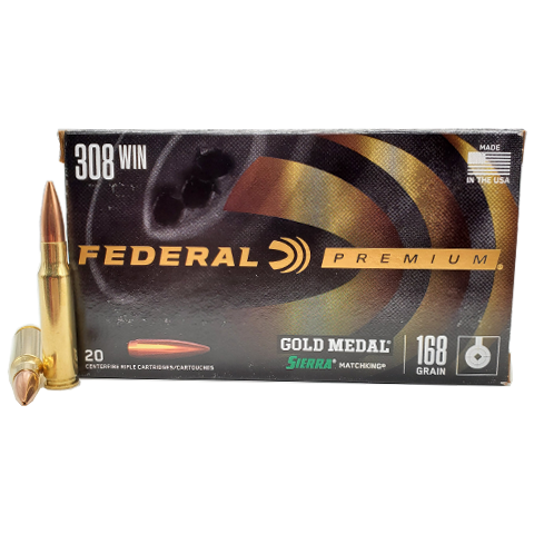 308 Win - Federal Gold Medal Match 168 Grain BTHP