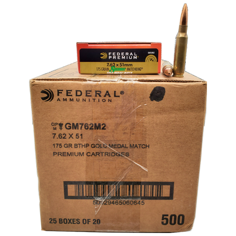7.62x51 NATO  - Federal Premium 175 Grain Gold Medal Match Case
