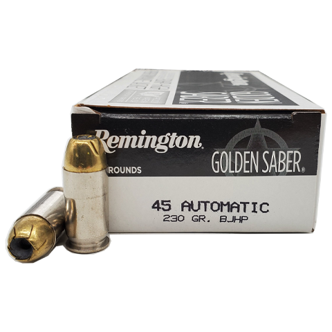 45 Auto - Remington Golden Saber 230 Grain BJHP