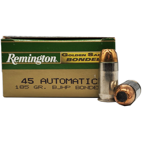 45 Auto - Remington Golden Saber 185 Grain BJHP