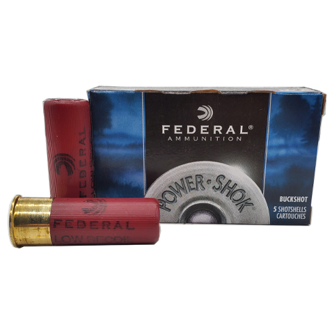 "12 Gauge - Federal Power-Shok 2-3/4"" Low Recoil 00 Buckshot"