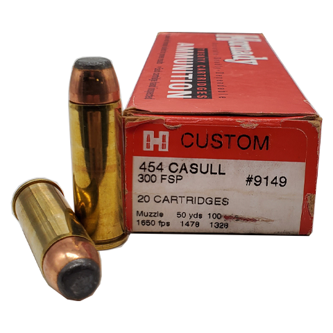 454 Casull - Hornady Custom 300 Grain Flat Soft Point
