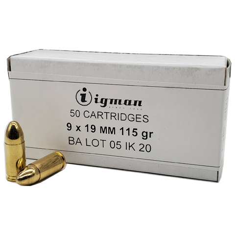 9mm - Igman 115 Grain Full Metal Jacket