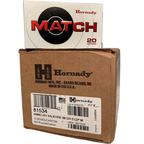 6.5 Creedmoor - Hornady Match 147 Grain ELD 200 Round Case