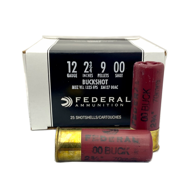 "12 Gauge - Federal Premium 2.75"" 00 Buckshot 25 Rd Box"