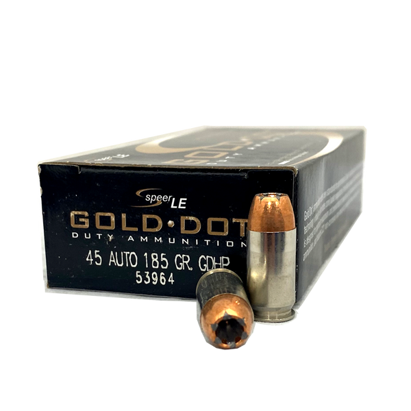 45 Auto - Speer Gold Dot LE 185 Grain JHP