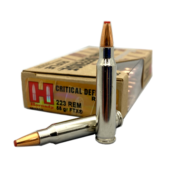 223 Rem - Hornady Critical Defense 55 gr. FTX