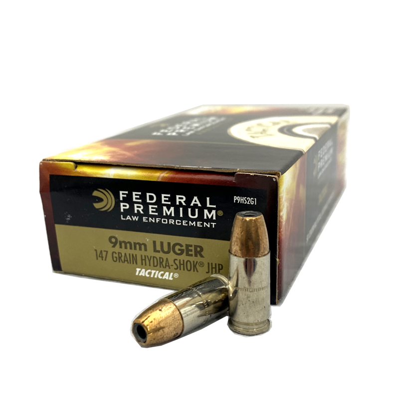 9mm - Federal Hydra-Shok 147 Grain JHP