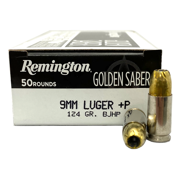 9mm - Remington Golden Saber 124 +P Grain JHP