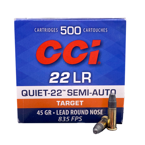 22 Long Rifle - CCI Quiet 45 Grain Semi-Auto