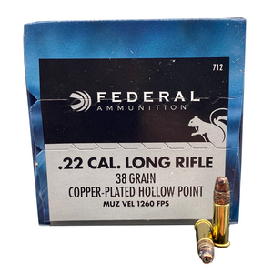 22 Long Rifle - Federal Game-Shok 38 Grain CPHP 500rd Brick