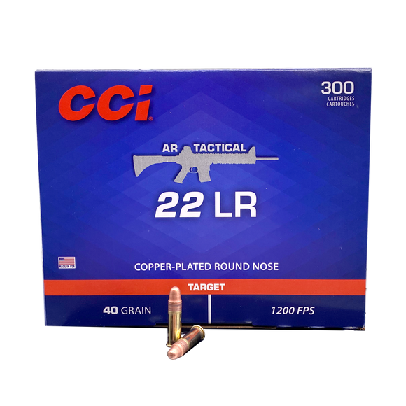 22 Long Rifle - CCI AR Tactical 40 Grain CPRN