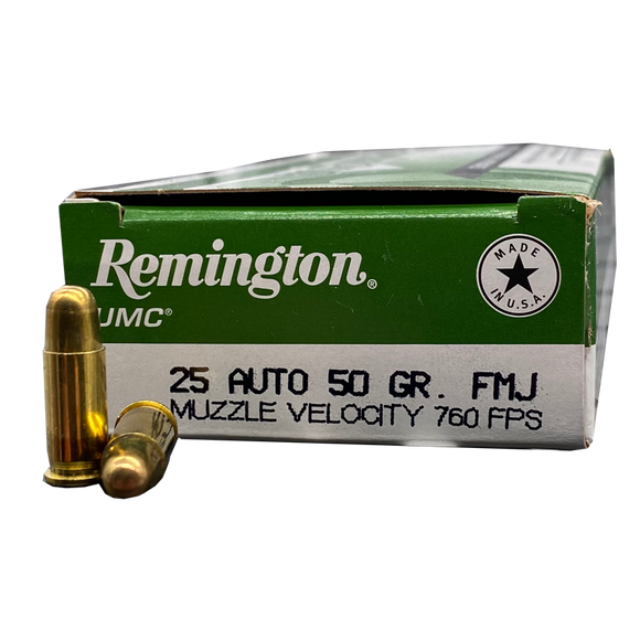25 Auto - Remington 50 Grain FMJ