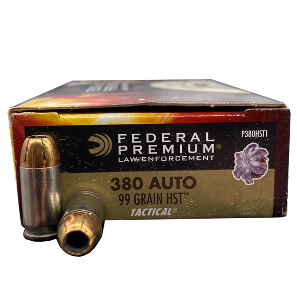 380 Auto - Federal LE 99 Grain HST Jacketed Hollow Point