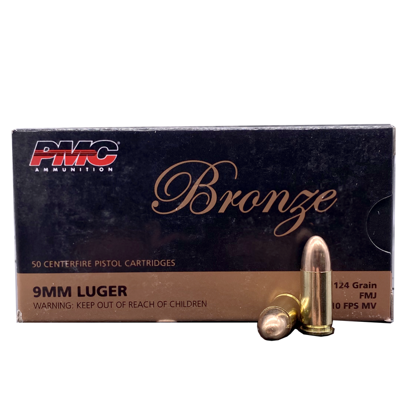 9mm - PMC Bronze 124 Grain Full Metal Jacket
