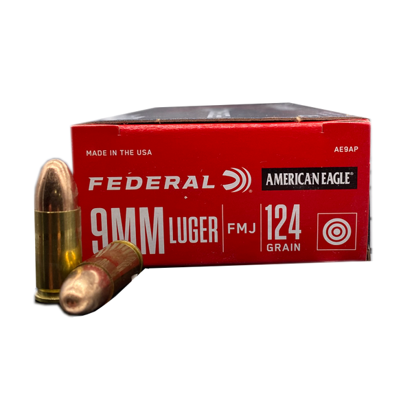 9mm - American Eagle 124 Grain FMJ