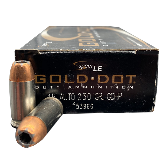 45 Auto - Speer Gold Dot 230 Grain JHP