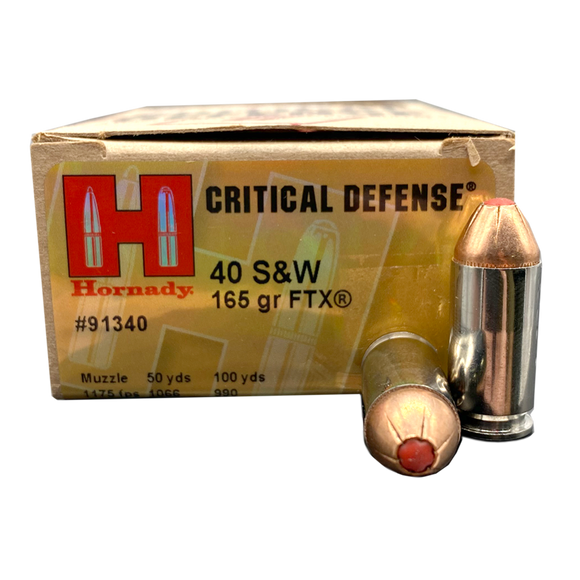 40 S&W - Hornady Critical Defense 165 Grain FTX JHP