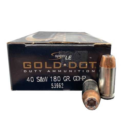 40 S&W - Speer LE Gold Dot 180 Grain JHP