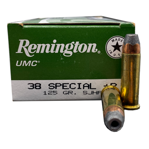 38 Special - Remington UMC 125 Grain SJHP +P