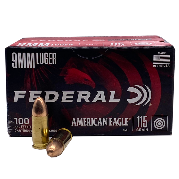 9mm - American Eagle 115 Grain FMJ Value Pack