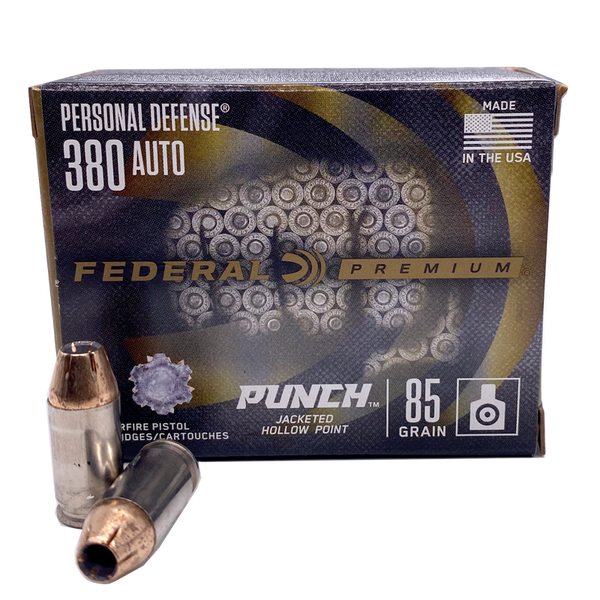 380 Auto - Federal Personal Defense 85 Grain JHP