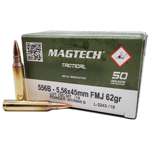 5.56 Nato - Magtech Tactical 62 Grain FMJ