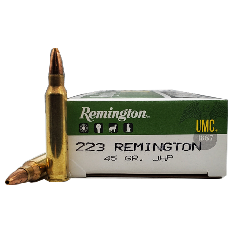 223 Rem - Remington 45 Grain Jacketed Hollow Point