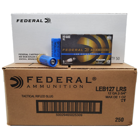 "12 Gauge - Federal LE Premium 2-3/4"" TrueBall Rifled Slug Case"