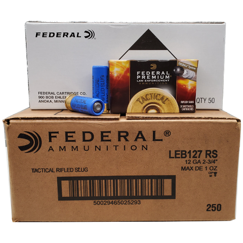 "12 Gauge - Federal Premium 2 3/4"" 1 oz. Truball Rifled Slug Case"